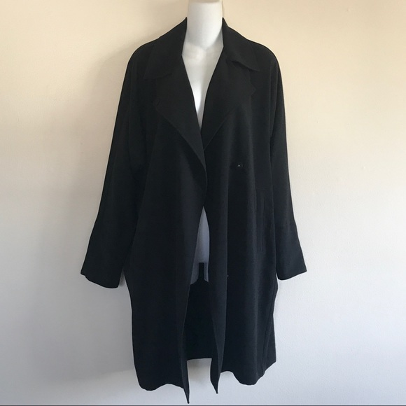 7360b1280e Light Duster Flowy Trench Coat with Pockets